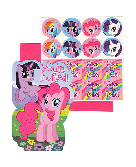 My Little Pony Friendship Save the Date Party Invitations