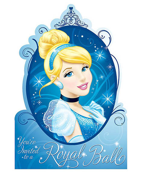 Cinderella Sparkle Save the Date Party Invitations