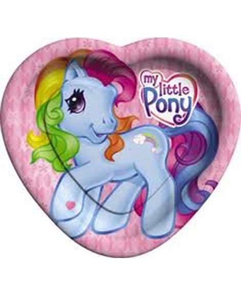 My Little Pony Party Heart Shaped Lunch Plates