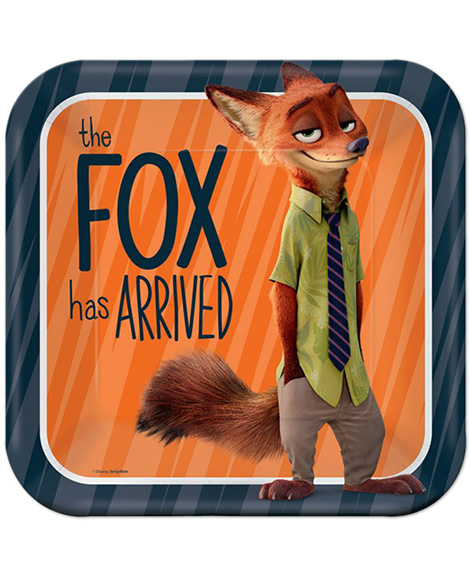 Zootopia Lunch Plates