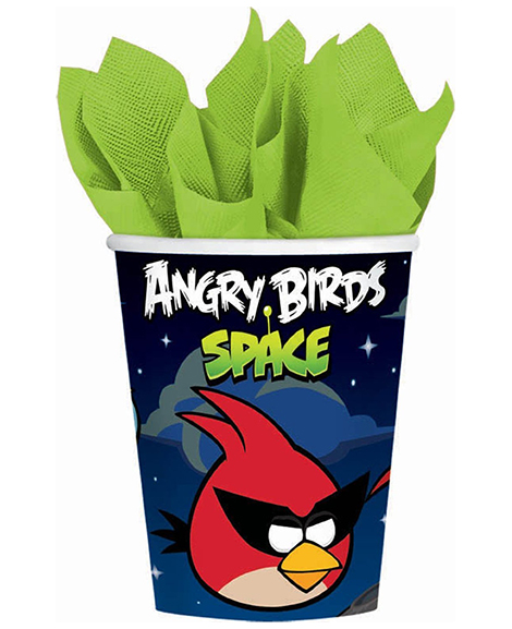 Angry Birds Space 9 oz Paper Cups