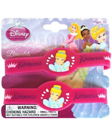 Cinderella Party Favor Plastic Bracelets 2 Pack