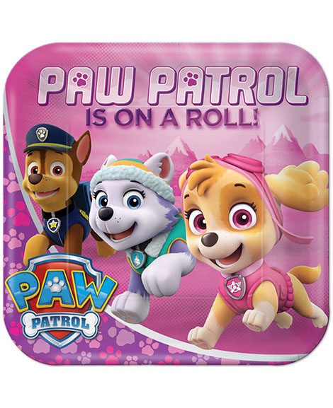 Paw Patrol Girl Square Lunch Plates