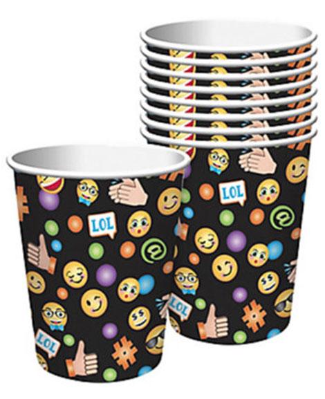 Emoji LOL Amscan 9 oz Paper Cups