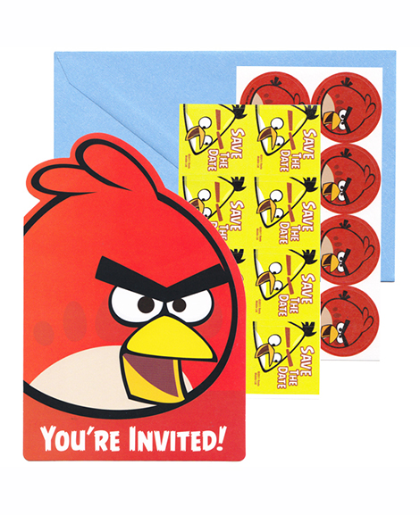Angry Birds Save The Date Party Invitations