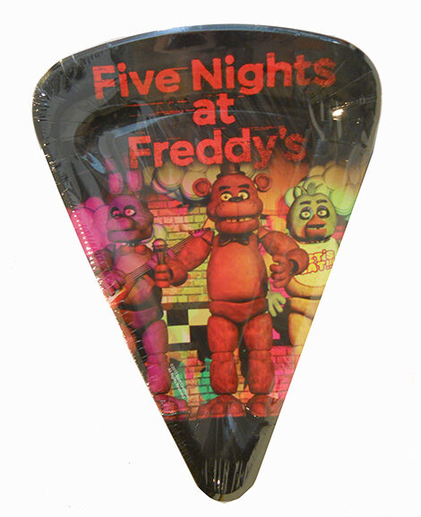Five Nights at Freddy's Pizza Shaped Plates