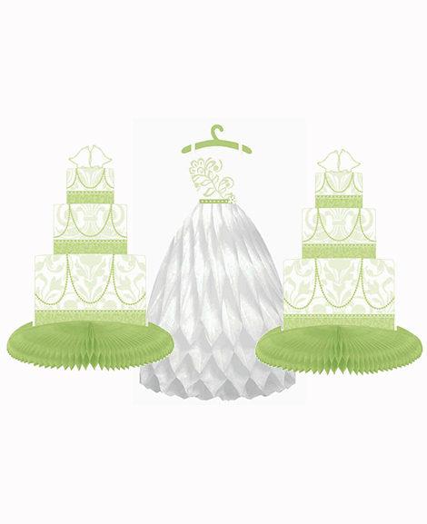 Blushing Bride Honeycomb 3 Piece Centerpiece
