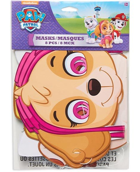 Paw Patrol Girls Party Favor Masks