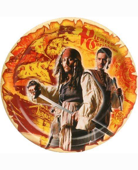 Pirates of The Caribbean Dessert Plates