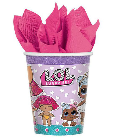 LOL Surprise 9 oz Paper Cups 8 Ct by Amscan