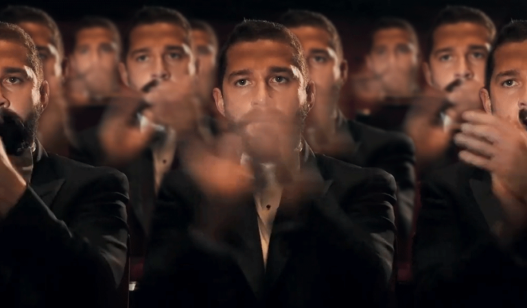 Shia LaBeoufs clapping in unison
