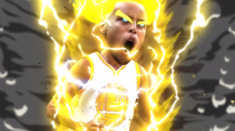 Stephen Curry Super Saiyan Celebration