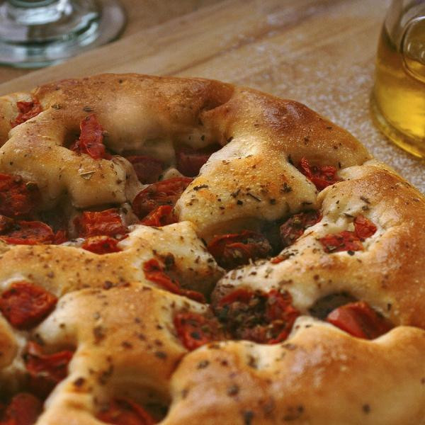 Organic Focaccia with Sun-Dried Tomatoes