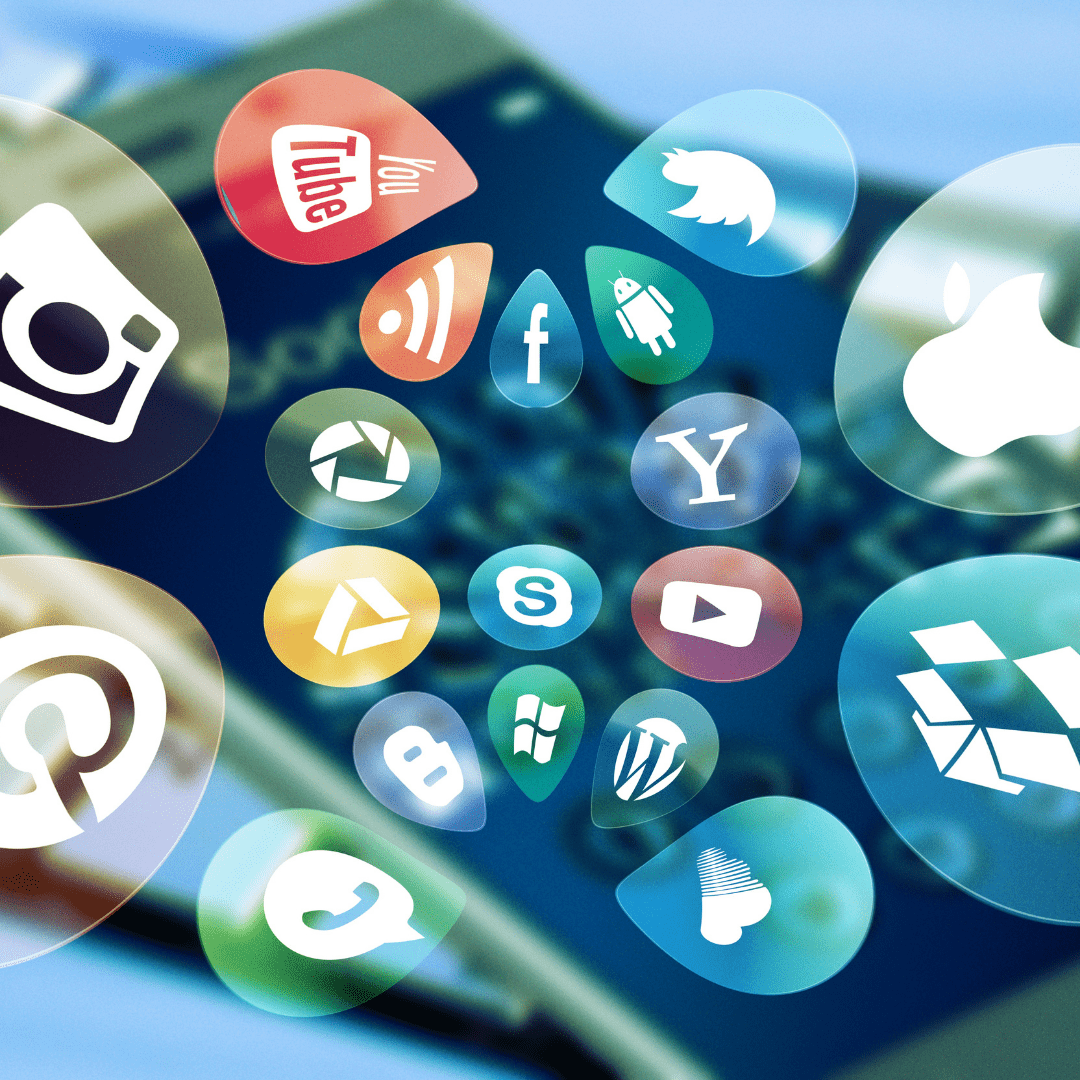 Image of different social media icons