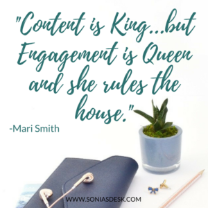 Content is King, but Engagement is Queen and she rules the house.