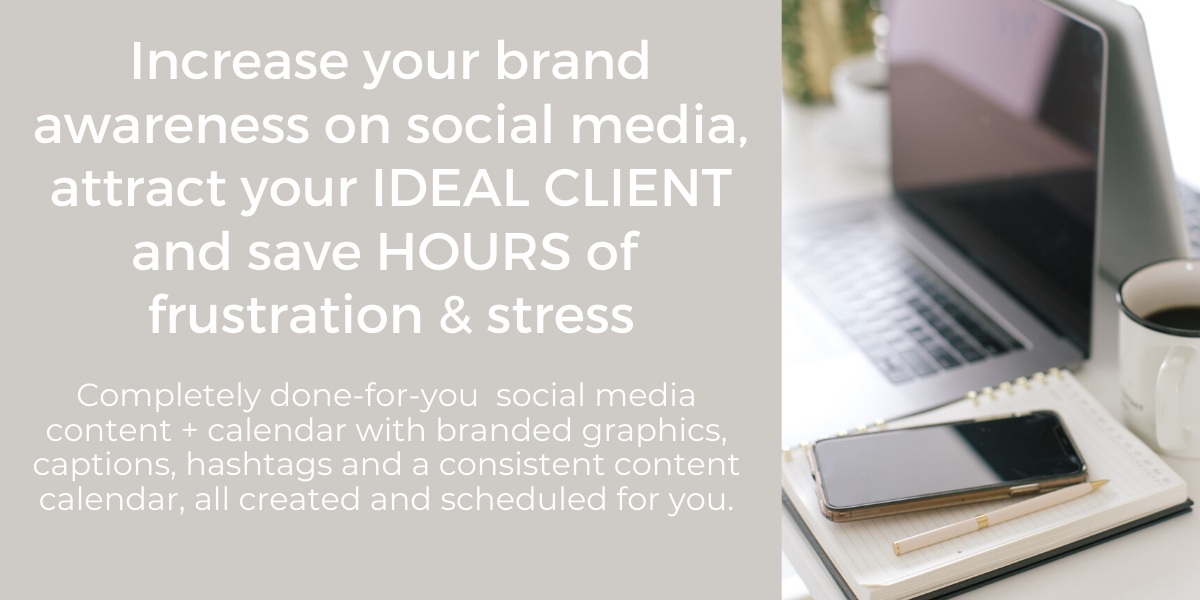 social media content creation package header