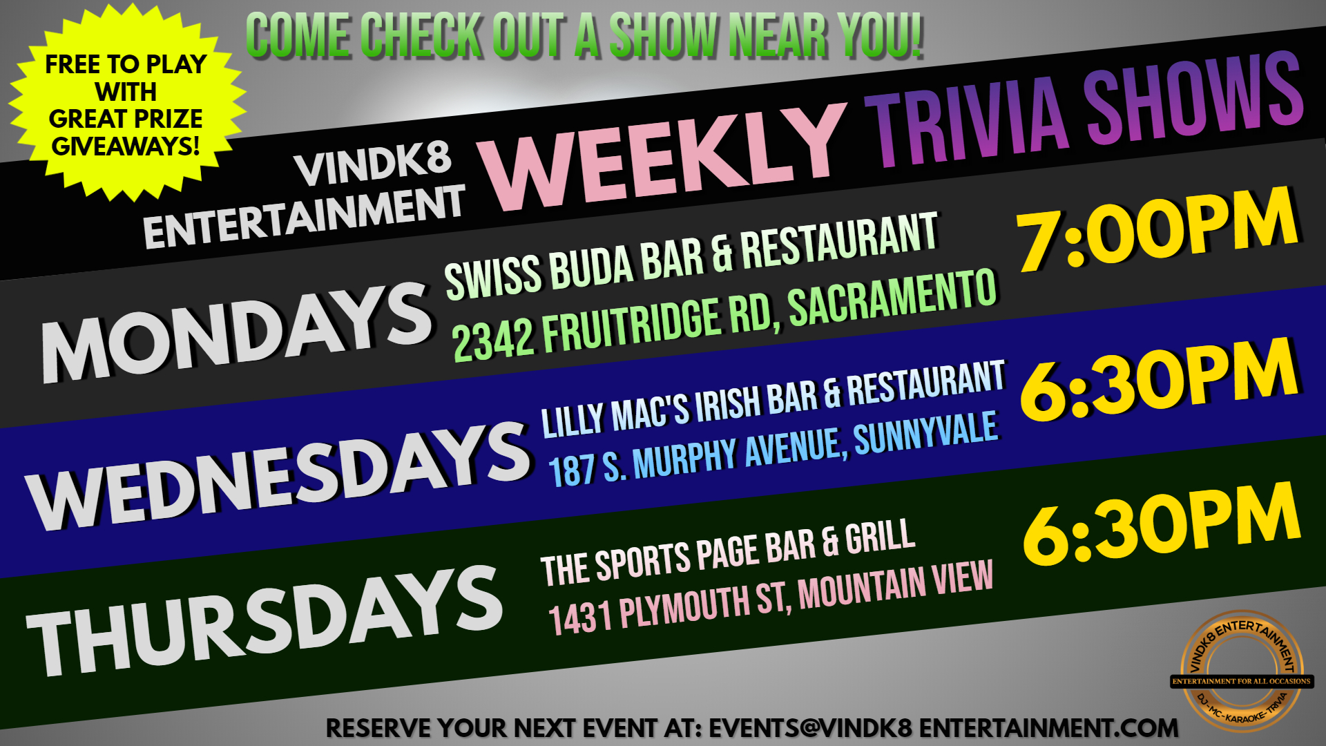 0 - Weekly Trivia Shows