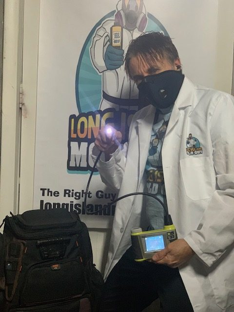 Long Island Mold Guy showing you tools for mold assessment The Borescope