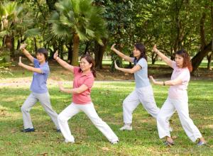 Tai Chi helps maintain balance and muscle strength.