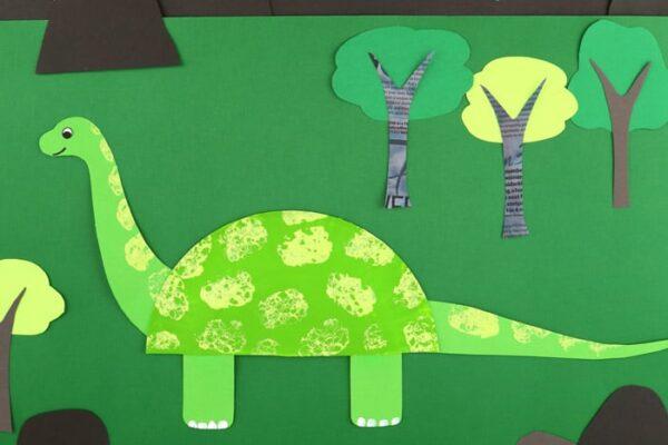 Diplodocus Paper Plate Craft
