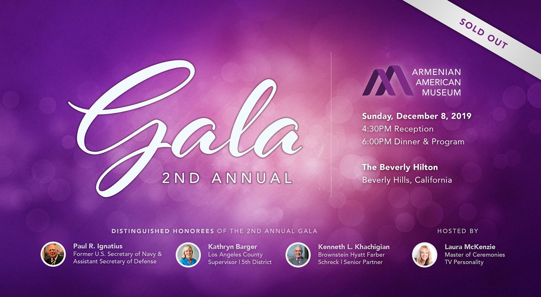 2nd Annual Armenian American Museum Gala