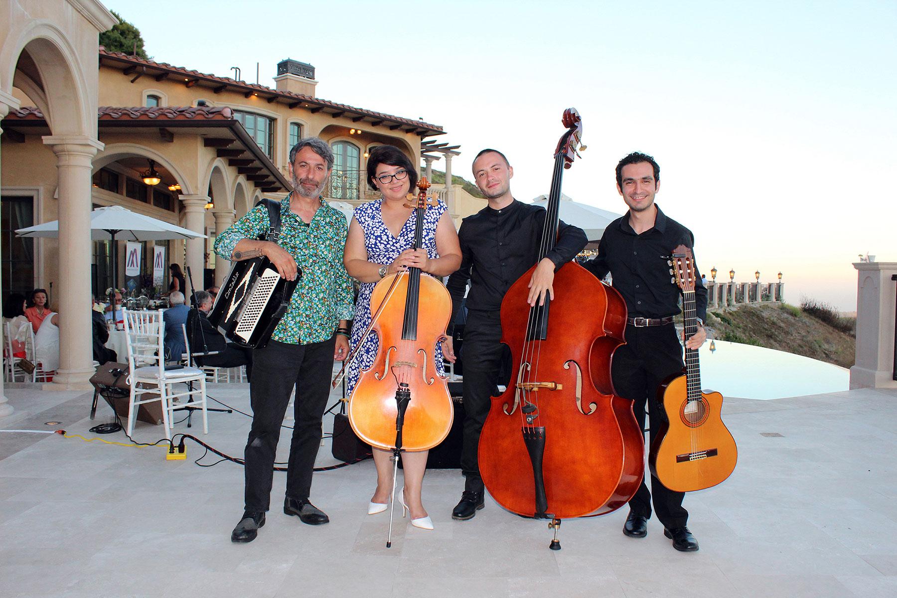 Ara Dabandjian and Members of the Element Band at the Armenian American Museum Malibu Reception