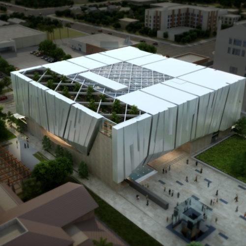 Armenian American Museum Aerial East to West