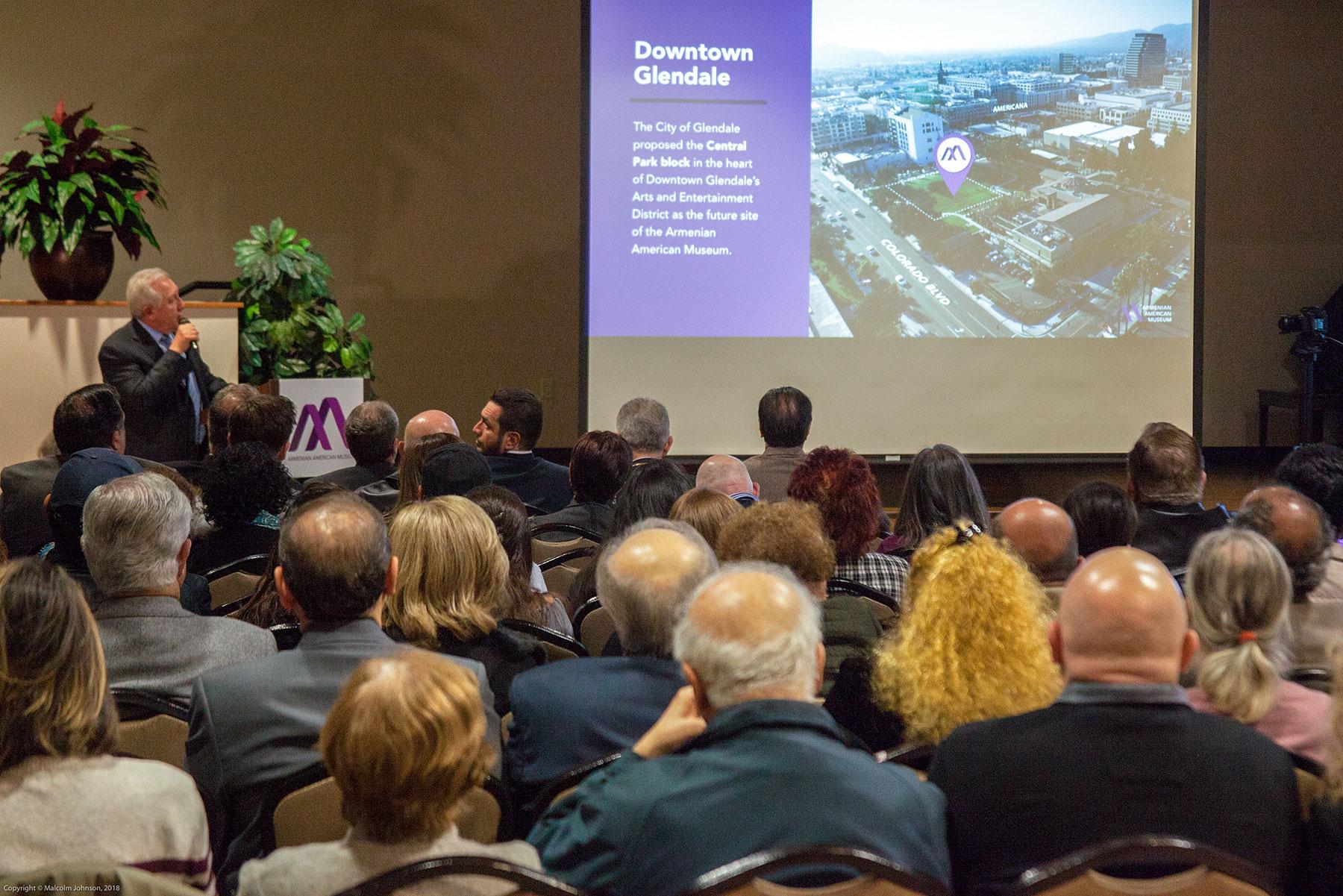 Armenian American Museum Executive Committee Chairman Berdj Karapetian Presents Downtown Glendale Location