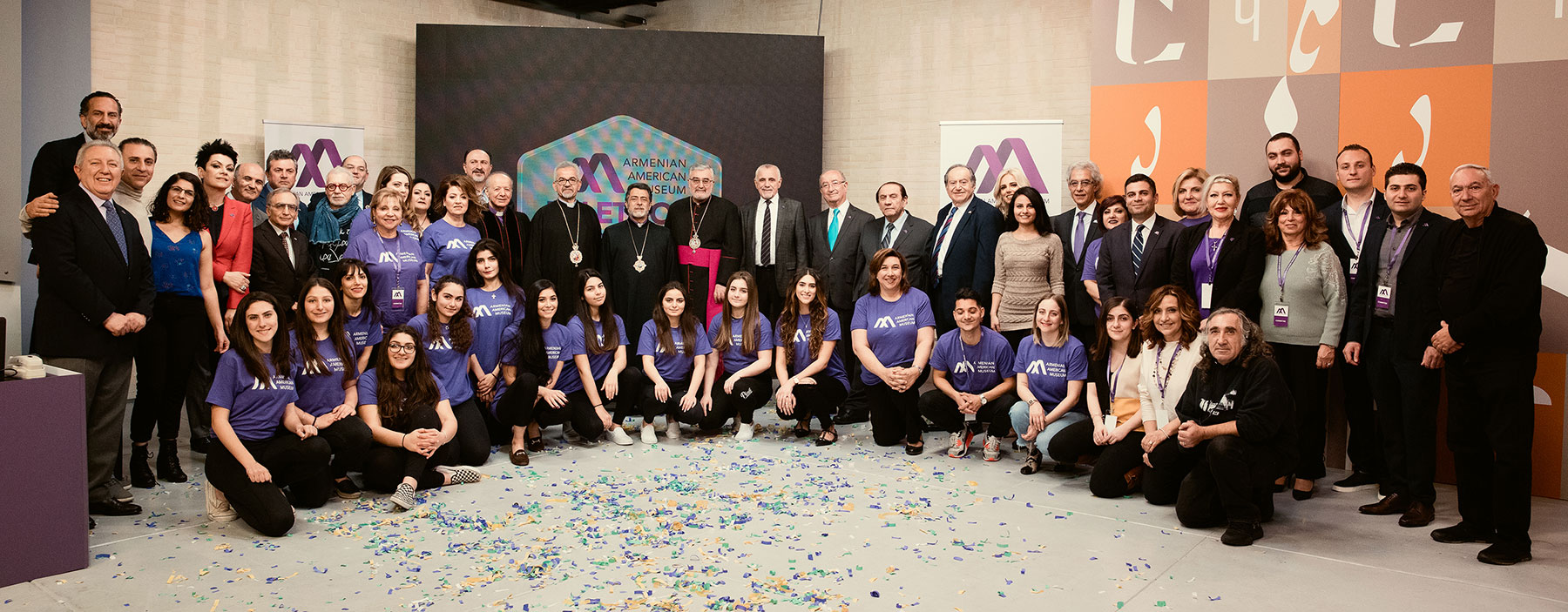 Armenian American Museum Leadership with Telethon Committee Members, Volunteers & Crew