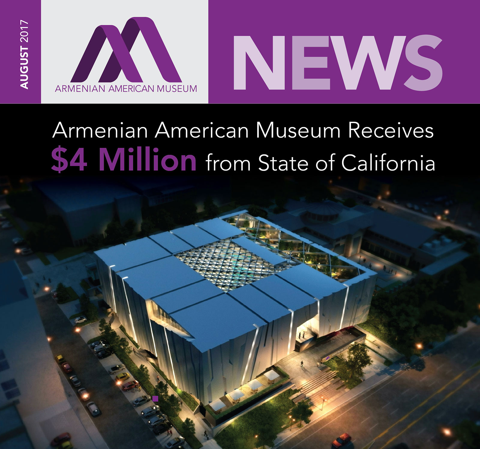 Armenian American Museum Newsletter August 2017