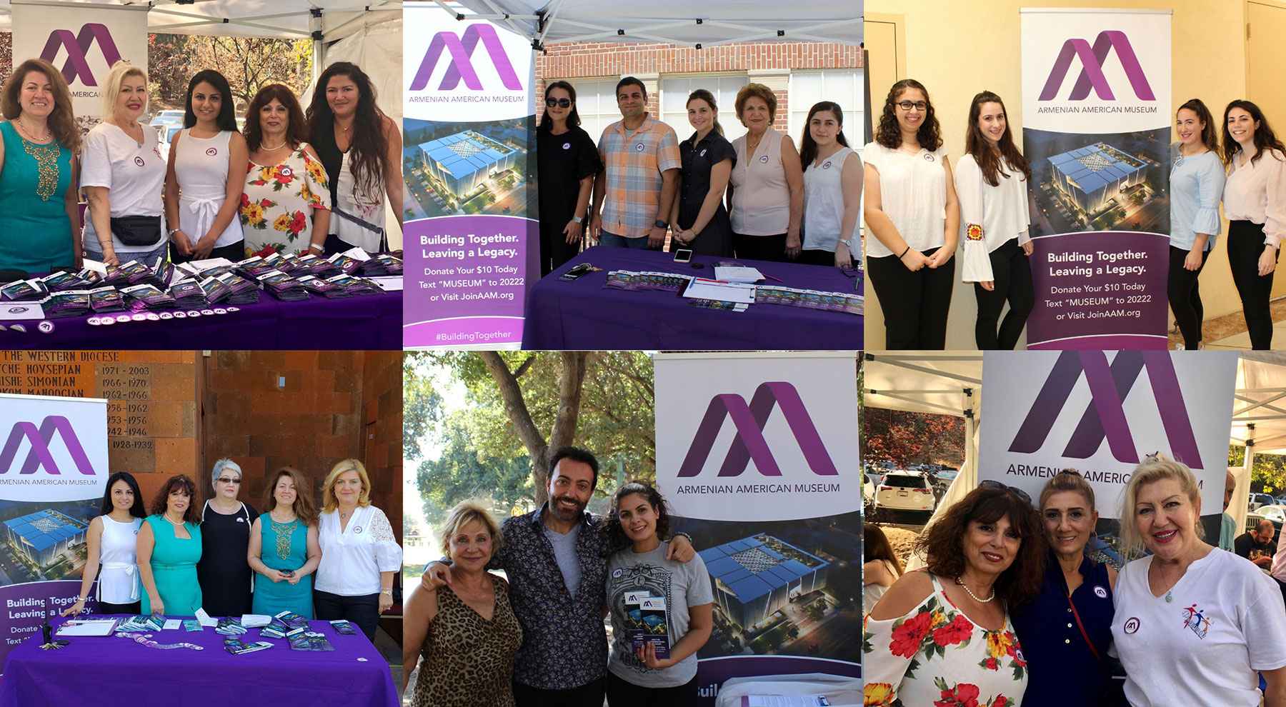 Armenian American Museum Representatives and Volunteers Kicking Off the Groundbreaking Campaign