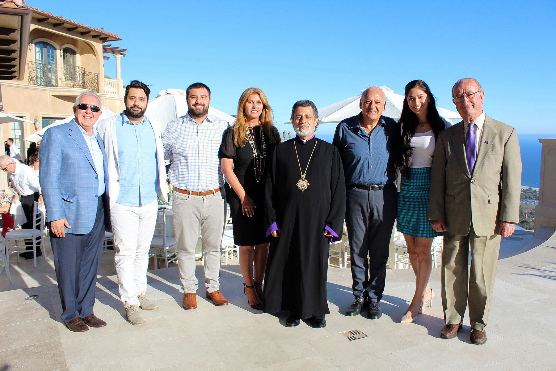 Ohanian Family with Armenian American Museum Leaders at Malibu Reception