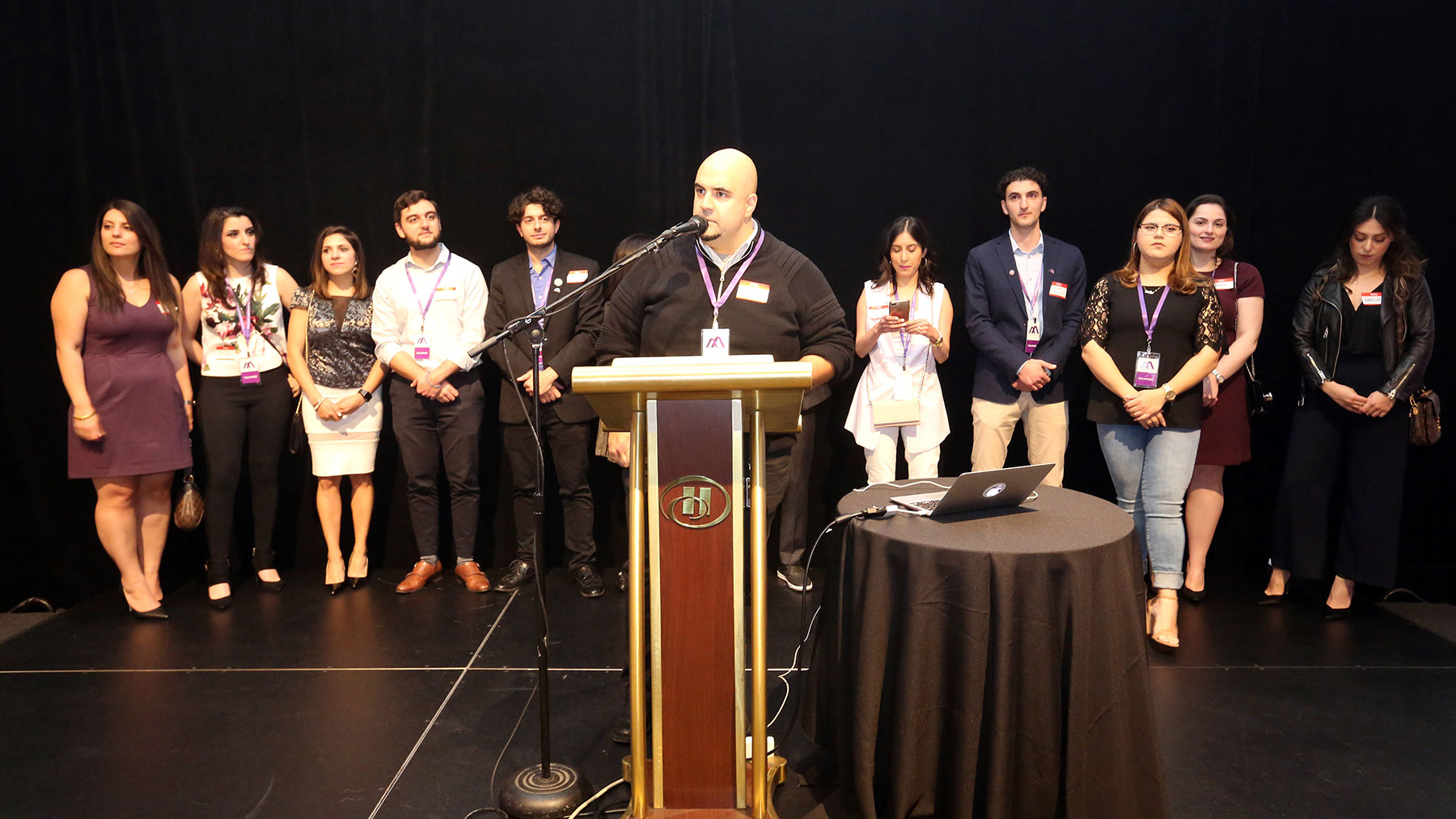 Philip Hovanessian of the Armenian Professional Network Los Angeles Chapter Welcoming Capacity Crowd at AYP Summer Mixer