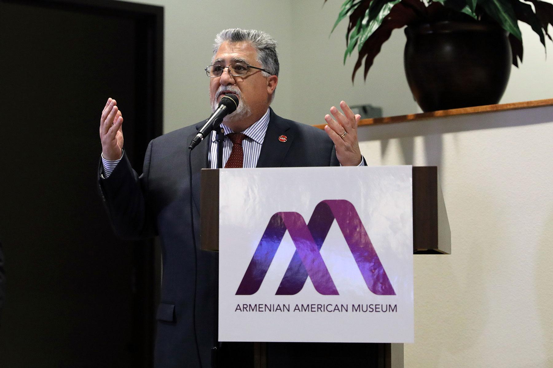 Senator Anthony J. Portantino Addresses Audience at Armenian American Museum Community Meeting
