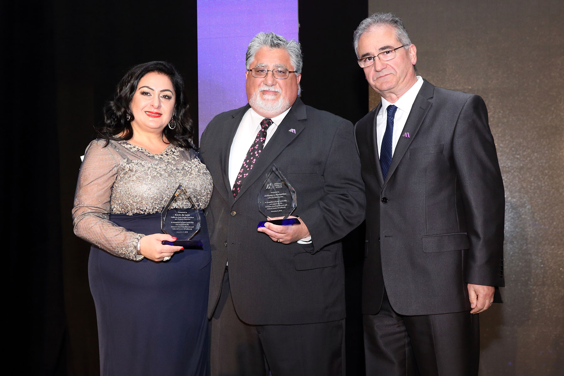Senator Anthony Portantino Presented Award by Museum Board of Trustees & Representatives