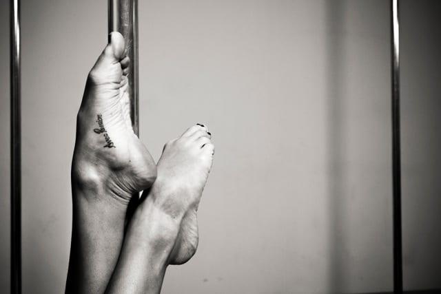 Perfect lines: ballerina feet