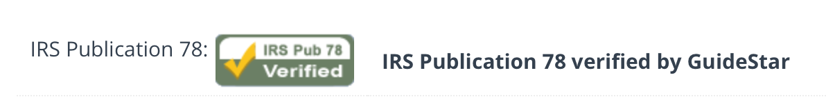 Guidestar IRS Verified