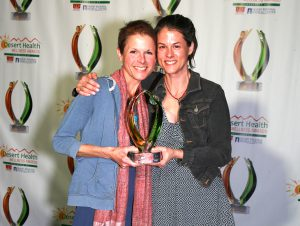 Business award winners Laura and Dana Laffranchini of Harvest Health