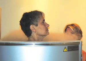 Dr. Wahls tries Cryotherapy for the first time