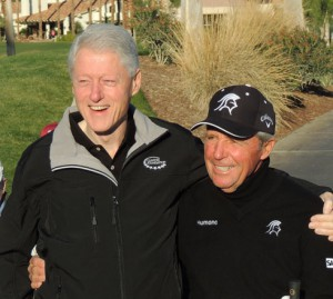 President Clinton and Gary Player