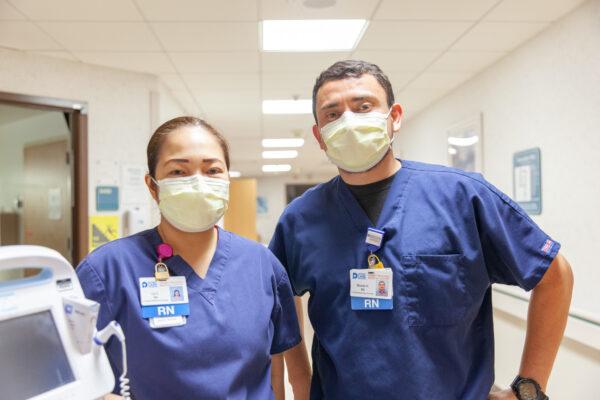 Nurses Liv Cunado, RN and Ricardo Hernandez Gonzalez, RN