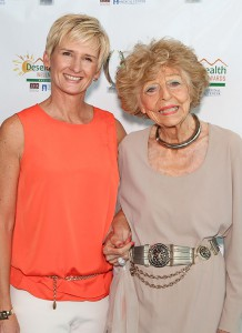 Greeting special guest Edith Morrey (the picture of health at 103!) at the Desert Health® Wellness Awards.