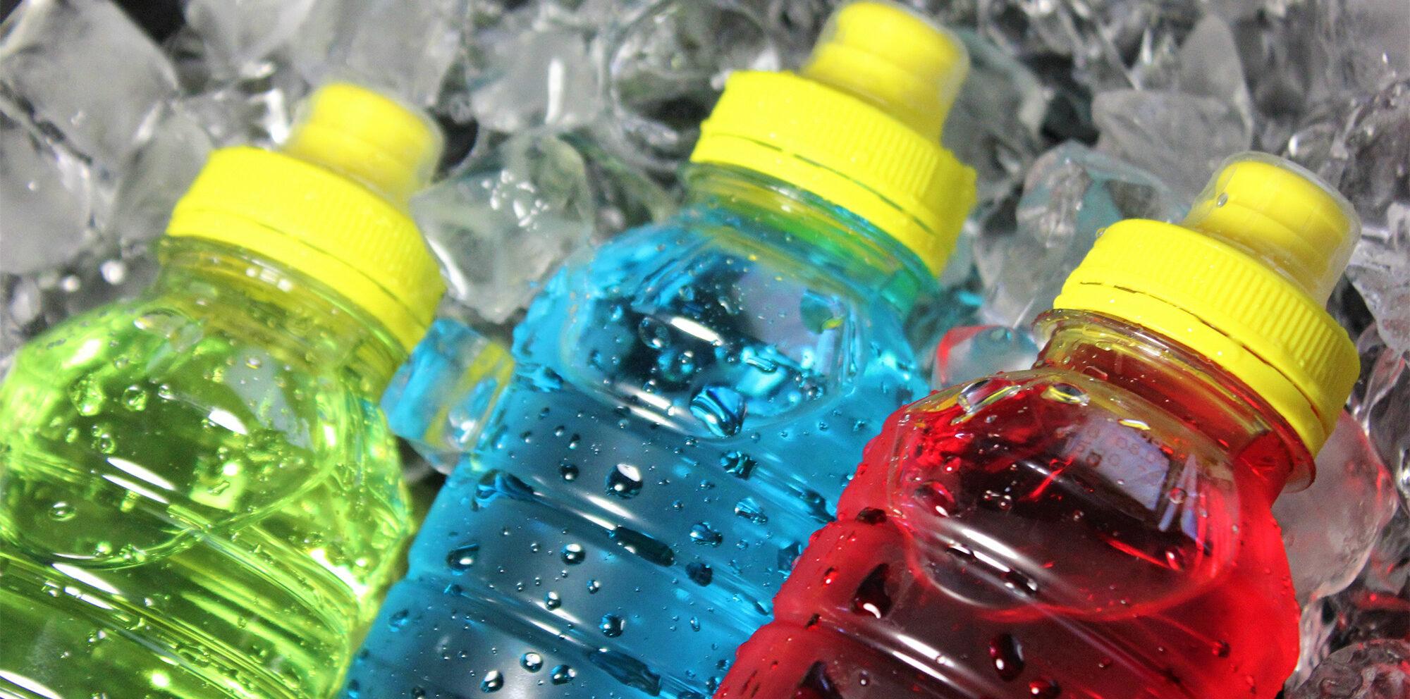bottles with electrolytes