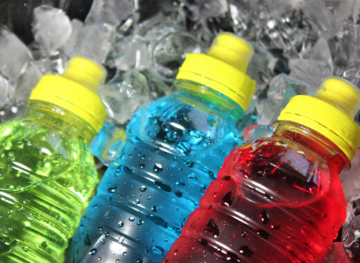 bottles with electrolytes