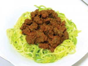 Zoodles (zucchini noodles) are a healthy alternative to pasta