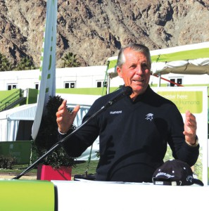 Gary Player delivers his message of good health at the Humana Challenge