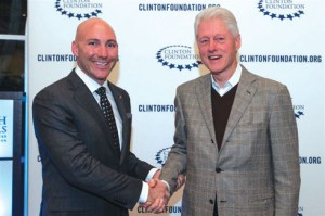 On behalf of HEI Hotels, Ryan Sistare receives well-deserved recognition from the President at the 2013 Clinton Conference
