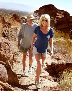 Suzanne and Alan hiking Desert trails