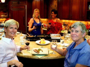 Lauren and Doris enjoy a Holistic, Happy & Healthy Cookery Class at Kitchen Kitchen in Indian Wells. (See recipe from Chef Dipika Patel and special  guest, Cindy Karls on page 30).