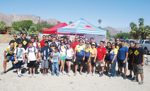 Trips for Kids budding riders and the TFKCV team at their October kickoff event